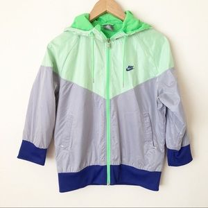 RARE Nike Color-block Windbreaker Zip Up Jacket L